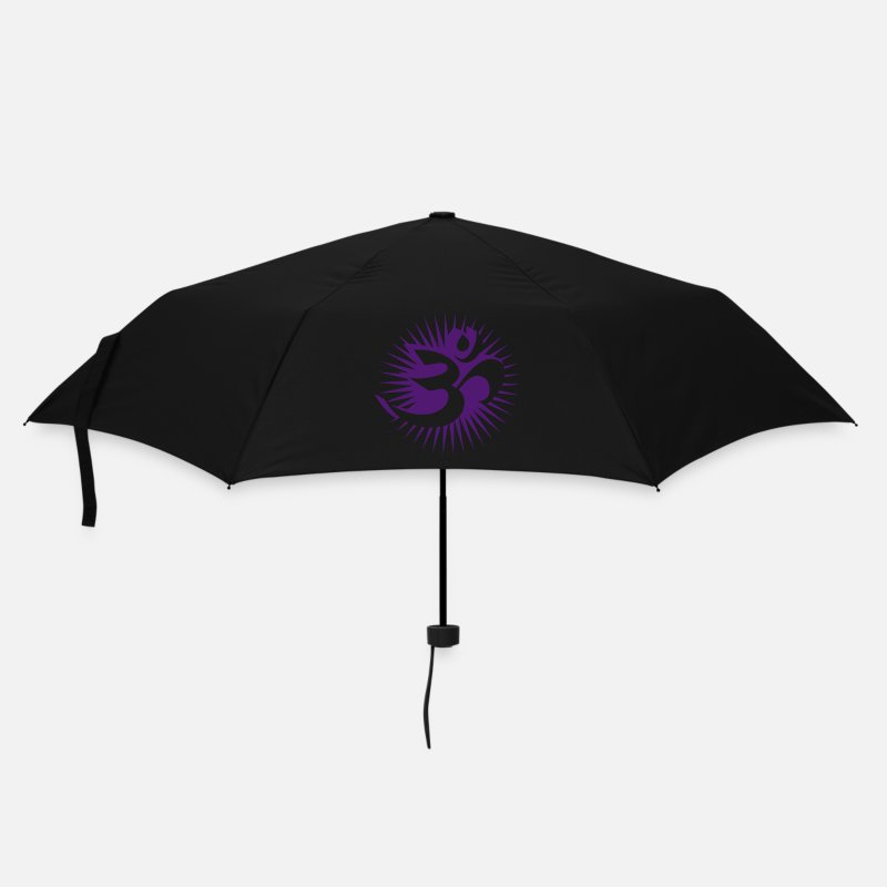 Buddhism Umbrellas - Om symbol 3D - Umbrella black