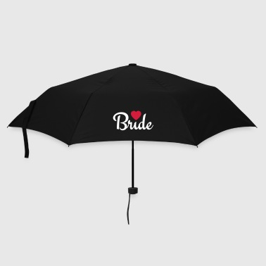 bride with heart 2c - Umbrella (small)