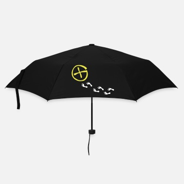 Bug opencaching logo & footprints / 3 colors - Parapluie standard
