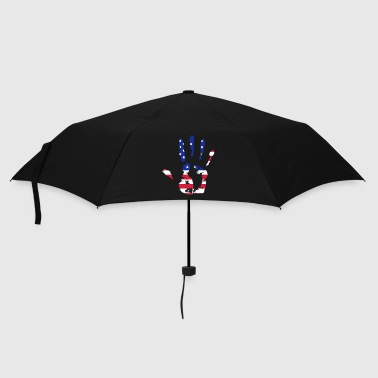 handprint with American flag - Umbrella (small)