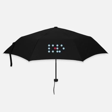 Writing Braille - dots and a heart - Umbrella