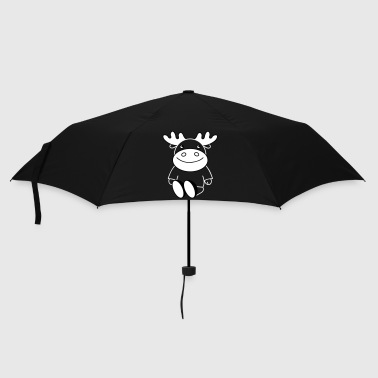 funny moose (b) - Umbrella (small)