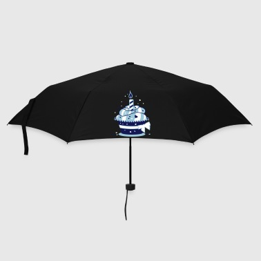Birthday cake with candle - Umbrella (small)