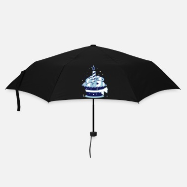Happy-birthday  Birthday cake with candle - Umbrella (small)