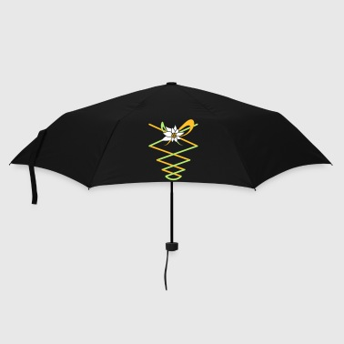Edelweiss Ribbons with Edelweiss in a dirndl Look - Umbrella (small)