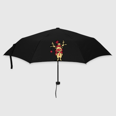A reindeer with gifts - Umbrella (small)