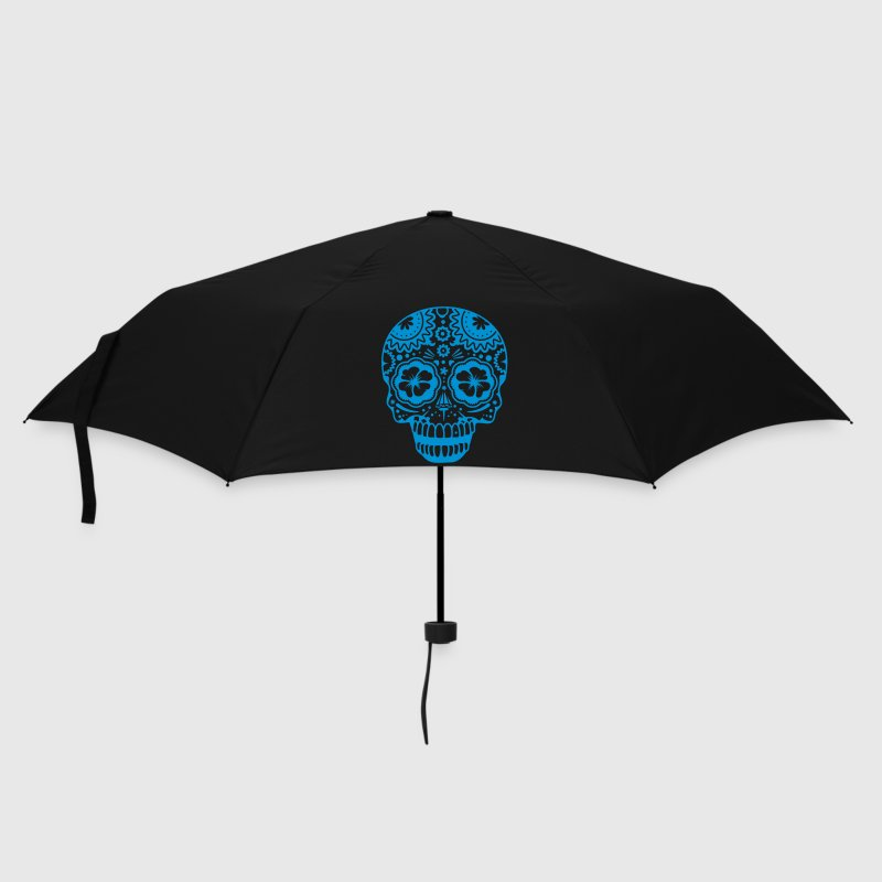 A laughing skull in the style of Sugar Skulls - Umbrella (small)