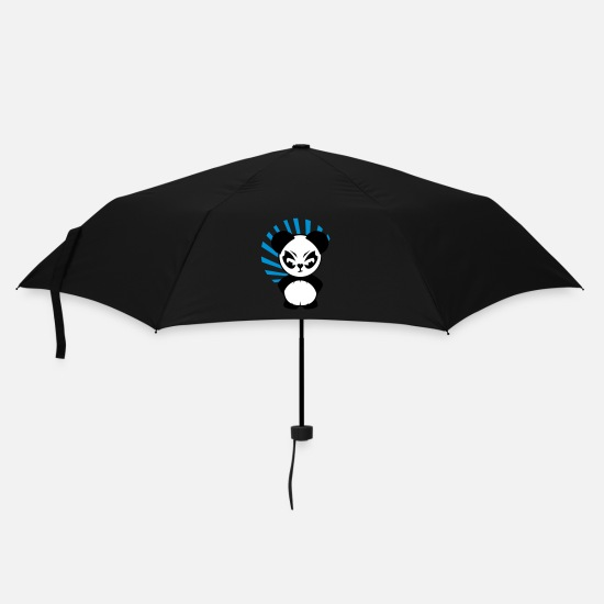 Angry Umbrellas - The Little Panda has an angry face - Umbrella black