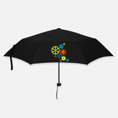 Gear nine gear wheels in different colors - Umbrella