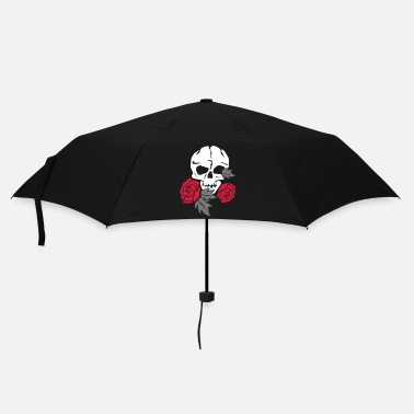 Skull skull and rose - Parapluie standard