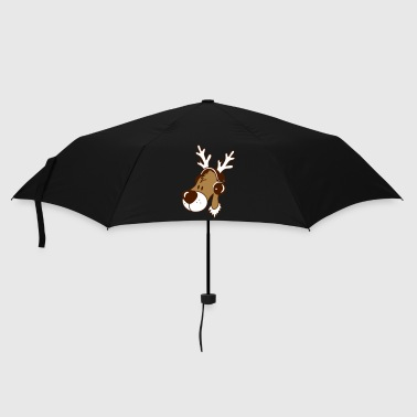 Antler Reindeer head with headphones - Umbrella (small)