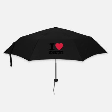 Country i love country / i heart country - Parapluie standard