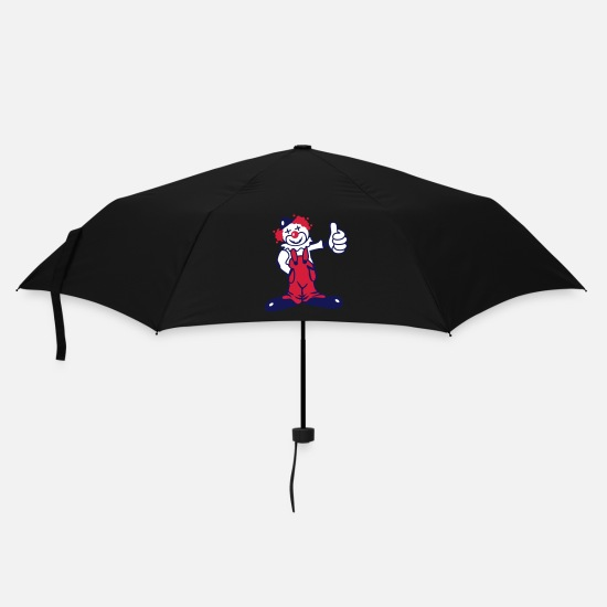 Carnival Umbrellas - A funny clown - Umbrella black