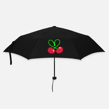 Rockabilly Rockabilly Cherry Heart Symbol  patjila 2014 - Umbrella (small)