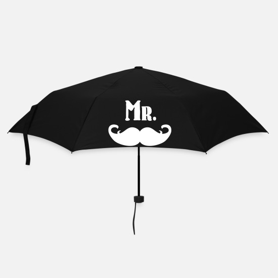 Hipster Umbrellas - Mr. Mustache - Umbrella black