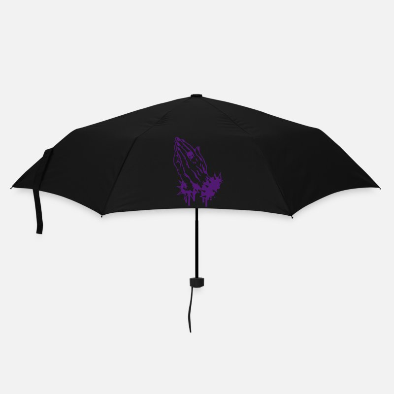 Black Umbrellas - Praying hands with a skull ring and armbands - Umbrella black