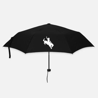 Equestrian Sports  Rodeo Riding on a wild horse - Umbrella