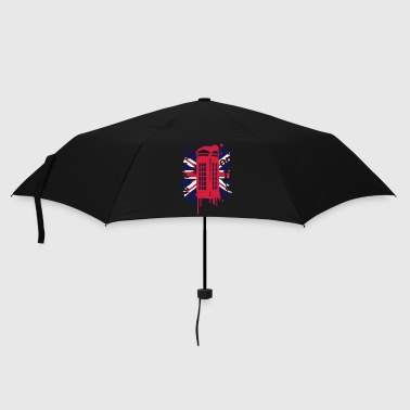 red telephone box with a British flag - Umbrella (small)