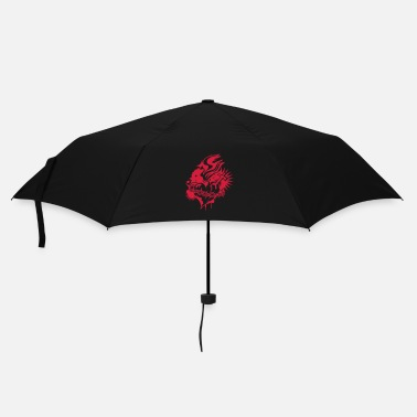 Christian A burning heart with cross and crown of thorns - Umbrella (small)
