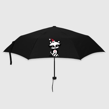 cute raccoon with Santa Hat  - Umbrella (small)