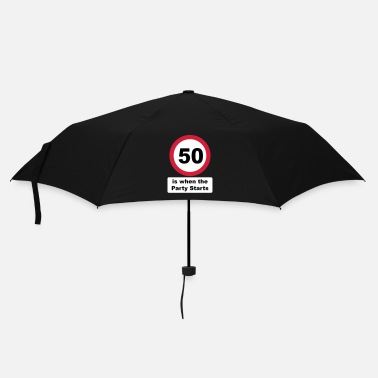 50 Years Old Birthday 50 is when the Party Starts (3 colors) - Umbrella