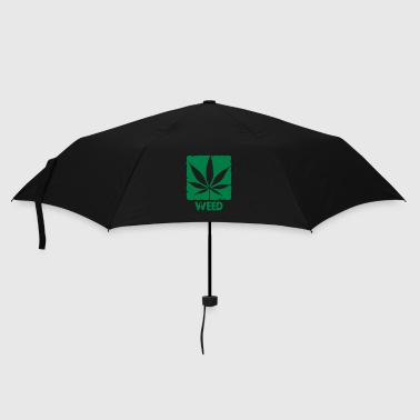 weed with boxed leaf - Umbrella (small)