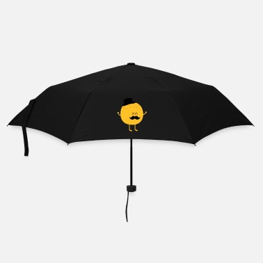 Vegan  Funny Orange with Mustache - Umbrella (small)