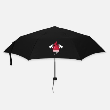 Occupation A fireman helmet and fire ax - Umbrella