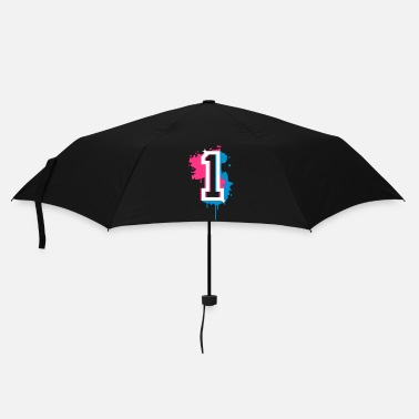 First The number one as a graffiti - Umbrella