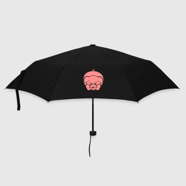 A little pig lying on the floor - Umbrella (small)