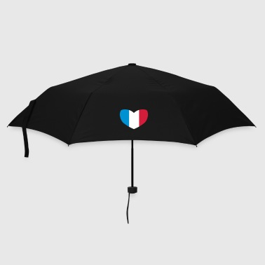 French Flag French Flag Heart - Umbrella (small)