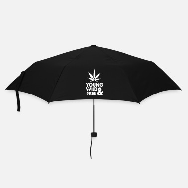 Cannabis young wild and free weed leaf - Parapluie standard