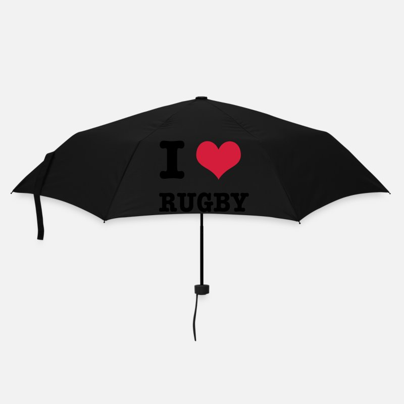 Love Umbrellas - I Love Rugby - Umbrella black