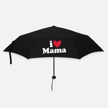 Mutter i love mama - i heart mama - ich liebe mutti mom mutter - Regenschirm