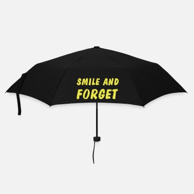 Weisheit smile and forget - Regenschirm