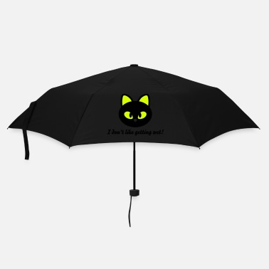 Sleek Black Cat - Umbrella