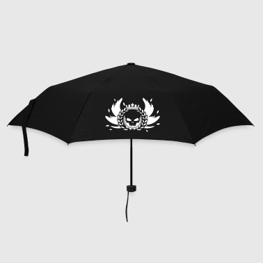 Skull with crown, wings and laurel wreath - Umbrella (small)