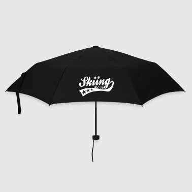 skiing is life - retro - Umbrella (small)