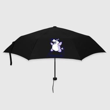Badger Hurrah - Mens retro T - Umbrella (small)
