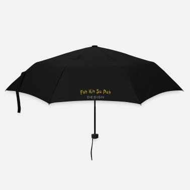 Miscellaneous Funny text FahKinSuPah design patjila - Umbrella