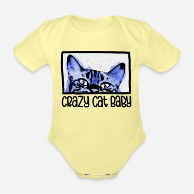 Baby Boy Crazy Cat Baby Boy - Baby Bio Kurzarmbody