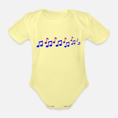 Note Note - Organic Short-Sleeved Baby Bodysuit
