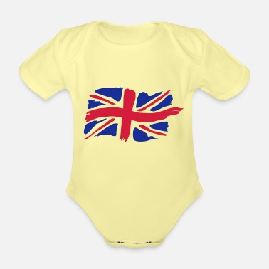 unionjackbrush - Organic Short-Sleeved Baby Bodysuit