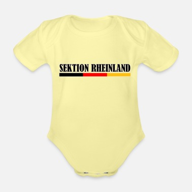 Fan Section Rhineland flag section - Organic Short-Sleeved Baby Bodysuit