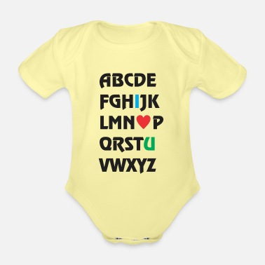 Love You i love you - Organic Short-Sleeved Baby Bodysuit