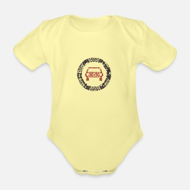 Prohibition Car forbidden 7 - Organic Short-Sleeved Baby Bodysuit