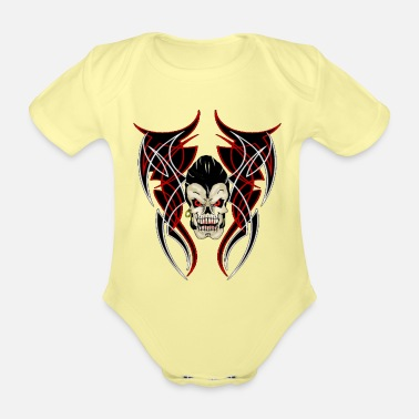 Pinstriping greaser pinstrip - Organic Short-Sleeved Baby Bodysuit
