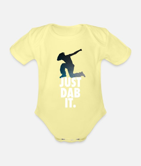 Hipster Baby Bodys - just dab it dabbing Dance Football touchdown Sport - Baby Bio Kurzarmbody Hellgelb