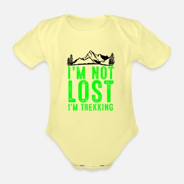 Skies I am not lost, I am hiking - Organic Short-Sleeved Baby Bodysuit