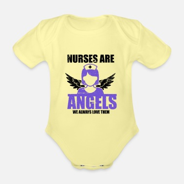 Carnival Nurses are angels on earth - Organic Short-Sleeved Baby Bodysuit